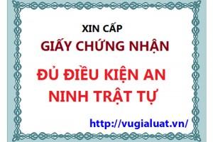 Tư vấn thủ tục cấp giấy phép an ninh trật tự tại Hà Nội