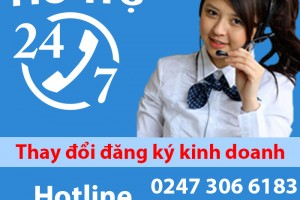 Dịch vụ thay đổi giấy phép đăng ký kinh doanh tại Vũ Gia Luật